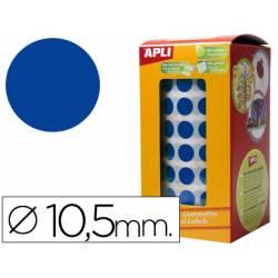 Gomets Apli circulares azul 10,5mm