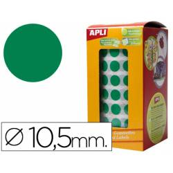 Gomets Apli circulares color verde 10,5mm