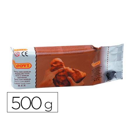 Pasta Jovi para modelar 500 g terracota