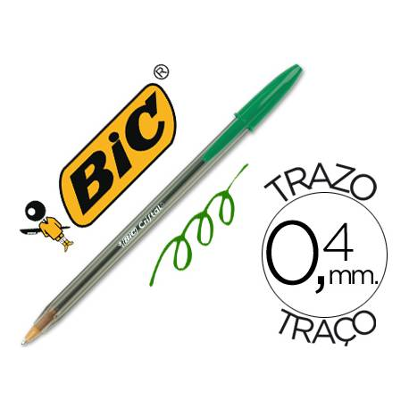 Boligrafo Bic Cristal color verde 0,4 mm