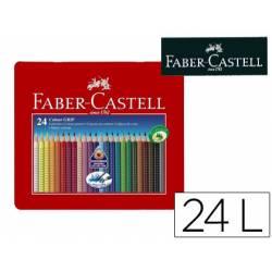 Lapices de Colores Faber Castell 24 colores Accuarelable Colour Grip