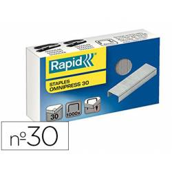 Grapas Rapid serie omnipress nº 30 caja de 1000