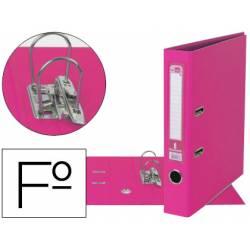 Archivador de palanca Liderpapel folio color rosa compresor