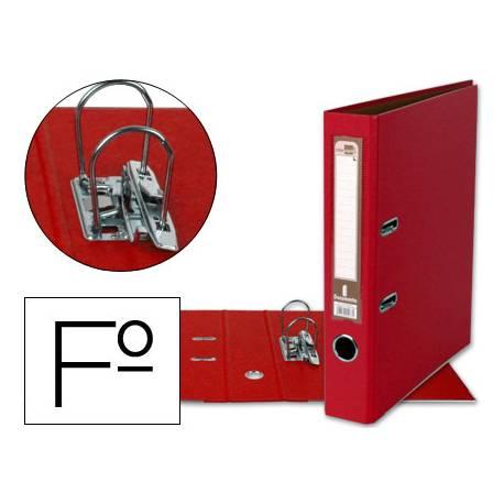 Archivador de palanca Liderpapel folio color rojo compresor