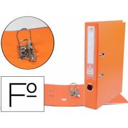 Archivador de palanca Liderpapel folio color naranja compresor