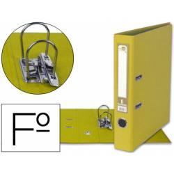 Archivador de palanca Liderpapel folio amarillo compresor