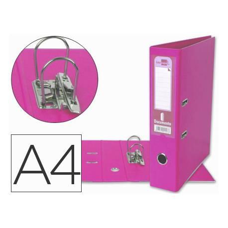 Archivador de palanca Liderpapel A4 color rosa lomo 75mm