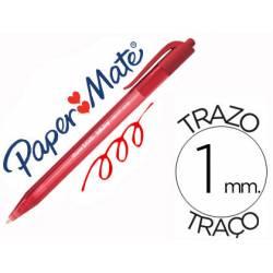 Boligrafo Paper Mate Inkjoy 100 retráctil rojo 1 mm