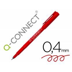 Rotulador Q-Connect punta de fibra rojo trazo 0.4 mm