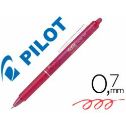 Boligrafo Borrable Pilot Frixion Clicker 0,4 mm color rosa