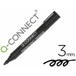 Rotulador Q-Connect punta de fibra permanente 3 mm negro