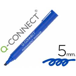 Rotulador Q-Connect punta de fibra permanente azul 5mm