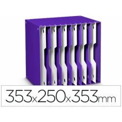 Archivador modular Cep poliestireno 12 casillas violeta/blanco 353x250x353 mm
