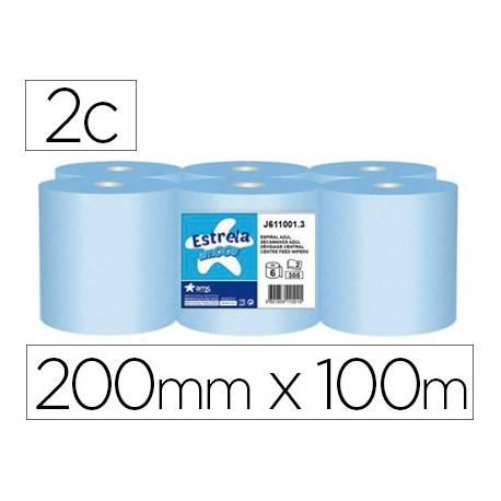 Papel secamanos Amoos azul 2 capas