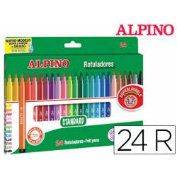 Rotulador Alpino Standard Punta Fina Caja de 24 rotuladores