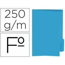 Subcarpeta cartulina azul con pestaña derecha