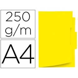 Subcarpeta cartulina amarilla con pestaña central