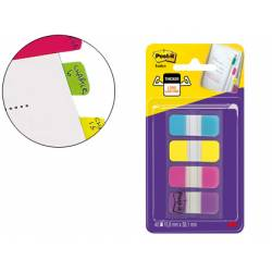 Banderitas Post-it ® separadoras Index dispensador 4 colores 15,8 x 38 mm