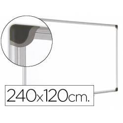 Pizarra Blanca Vitrificada Magnetica marco de aluminio 240x120 Bi-Office
