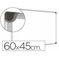 Pizarra Blanca Vitrificada Magnetica marco de aluminio 60x45 Bi-Office