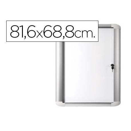 Vitrina de anuncio Bi-0ffice magnetica para exterior con marco de aluminio y cerradura