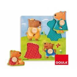 Puzzle a partir de 1 año Familia Osos marca Goula