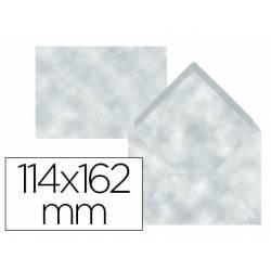 Sobre Liderpapel c6 azul pergamino 114x162mm