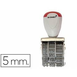 Fechador Q-Connect con banda dia-mes-año 5 mm
