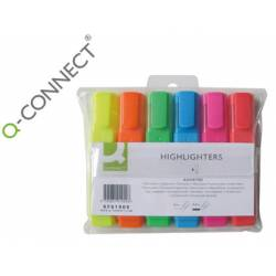 Rotulador Fluorescente Q-Connect Estuche 6 colores