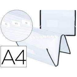 Carpeta clasificadora polipropileno Liderpapel Din A4 Transparente