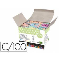 Tizas colores antipolvo Liderpapel caja 100 unidades