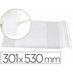 Forralibro Adhesivo Liderpapel con solapa ajustable 301x530 mm
