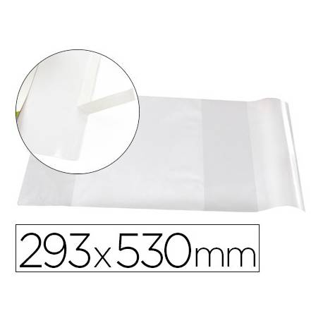 Forralibro Adhesivo Liderpapel con solapa ajustable 293x530 mm