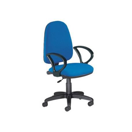 Silla de oficina giratoria 360 marca Q-Connect respaldo medio azul