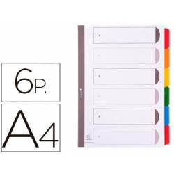 Separadores cartulina Exacompta Din A4 juego de 6 blanco