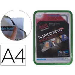 Marco Tarifold Din A4 magnetico verde pack de 2