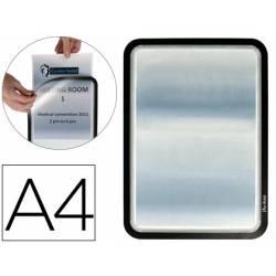 Marco Tarifold Din A4 adhesivo negro pack de 2