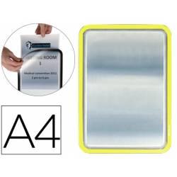 Marco Tarifold Din A4 adhesivo amarillo pack de 2