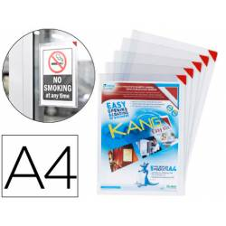 Funda presentacion Tarifold adhesiva reposicionable Din A4 pack de 5