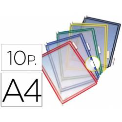 Funda portacatalogo Tarifold Din A4 surtido pack de 10