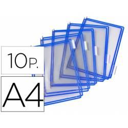 Funda portacatalogo Tarifold Din A4 azul pack de 10
