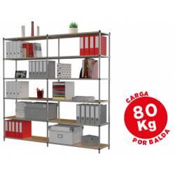 Estanteria Paperflow metalica 6 estantes modulo adicional