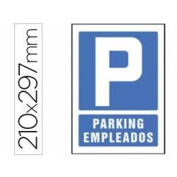 Señal Syssa parking empleados