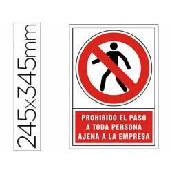 Señal Syssa prohibido el paso personal ajeno
