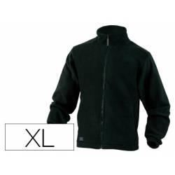 Chaqueta polar DeltaPlus negro talla XL