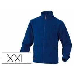 Chaqueta polar DeltaPlus azul talla XXL