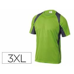 Camiseta manga corta DeltaPlus verde talla 3XL