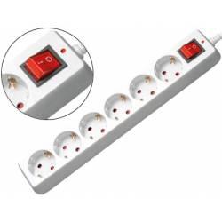 Regleta 6 tomas Mediarange sin interruptor 1,4 m
