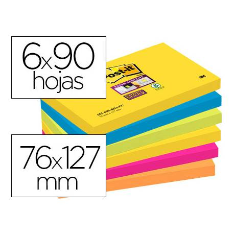 Pack blocs Post-it ® 76 x 127 mm