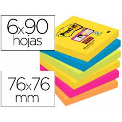 Pack blocs Post-it ® 76 x 76 mm encelofanados